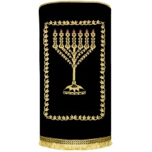 Chabad Torah Cover with Menorah Hand made M-4203
