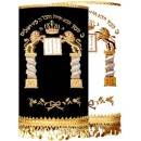 Torah Covers Hand Embroidered lions M-4220