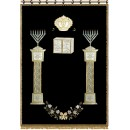 Chabad Parochet for Aron Kodesh with apllication P-5142