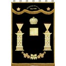 Chabad Parochet Temple Menorah model P-5316