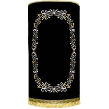 Torah Cover with gold and silver artistic frame M-41435