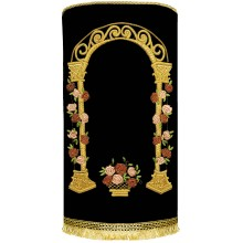 Torah Cover with Gate of Roses - Hand made M-42411