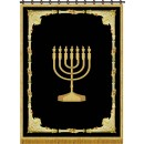 Parochet Menorah With Design P-5146