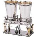 Sterling Silver Sheva Brachos Kiddush Cups