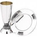Sterling Silver Kiddush Cup With Tray KG13